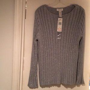 Jones New York sport silver sweater